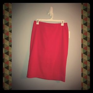 Red pencil skirt NWT